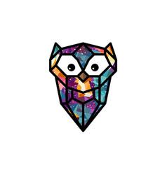 Colorful theme owl bird vector