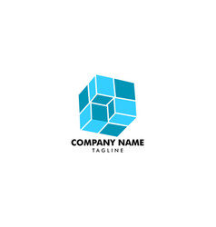 cubic logo design template vector image