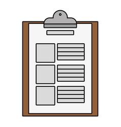 documents paper cartoon vector image