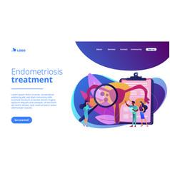 Endometriosis concept landing page vector