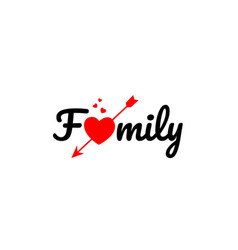 Family word text typography design logo icon vector