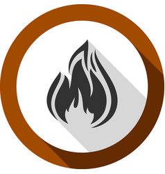 fire bonfire flame bagel shape vector image