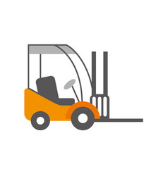 forklift delivery truck cargo vehicle vector image