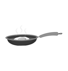 Frying pan single icon in monochrome stylefrying vector
