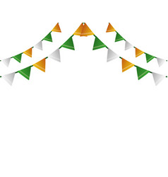 garlands decoration party vector image