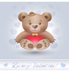 Gentle Teddy bear boy in love vector image