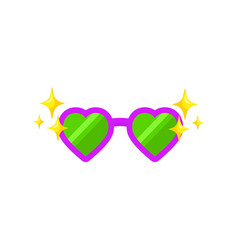 glasses heart shape for photobooth photo props vector image