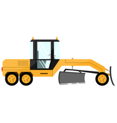 Grader design a cool large new construction vector