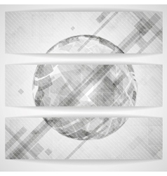 Gray Globe Design vector image