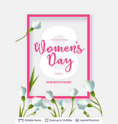 greeting card for international women day vector image