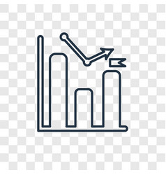 growth concept linear icon isolated on vector image