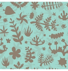 Hand drawn doodle plants background vector