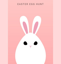 happy easter greeting background with bunny egg vector image