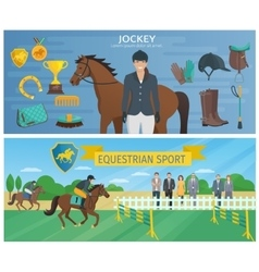 Horse Race Banners vector
