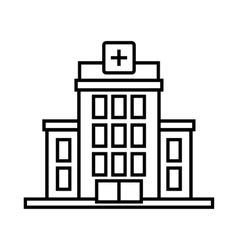 Hospital icon outline style vector