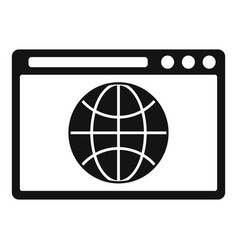 Hosting domain icon simple style vector