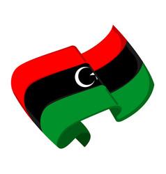 Isolated flag of libya vector