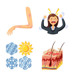 Isolated object pain and dermatology symbol vector