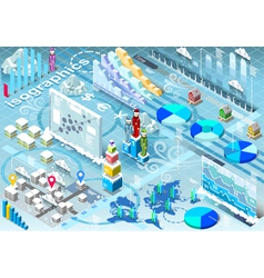 Isometric Infographic Set Winter Elements in vector image