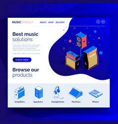 Isometric music equipment 4 vector