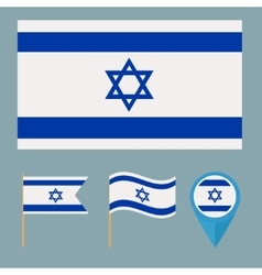 Israel icons for design country vector image