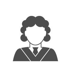 Judge avatar icon vector image