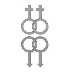 lesbian and gay gender sign icon monochrome vector image