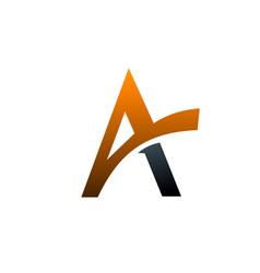 letter a logo design concept template vector image