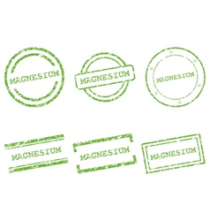 Magnesium stamps vector image