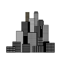 Modern big city vector image