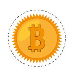 money bitcoin golden commerce vector image