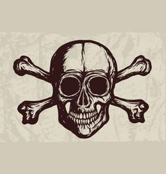 new skull with bones - 2019 vector image