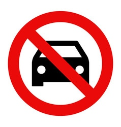 No car or no parking sign vector