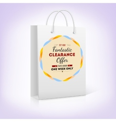 Paper shopping bag with bright pattern fantastic vector