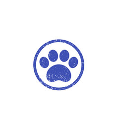 Paw print logo with texture vector
