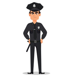 Police officer policeman vector