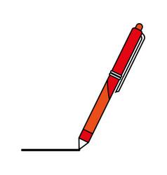 Retractable pen icon image vector