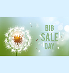 sale day banner season discount flyer vector image