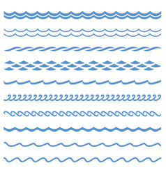 Seamless wave line vector