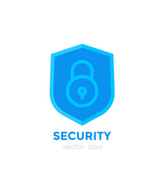 Shield icon on white security concept vector