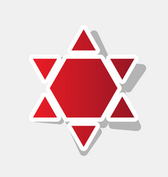 Shield magen david star inverse symbol of israel vector