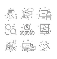 Social media icon web community people symbols of vector