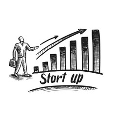 startup and investment presentation business vector image
