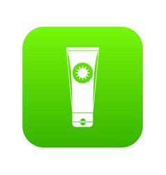 sunscreen icon digital green vector image