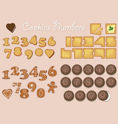 Sweet cookies numerals vector
