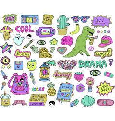 Teen stickers set vector