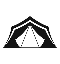 Tent icon simple style vector