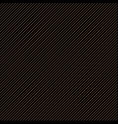 thin gold diagonal stripes on black vector image