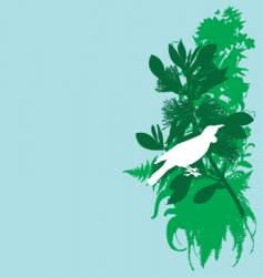 tui and pohutukawa vector image
