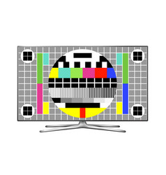 Tv test pattern screen vector